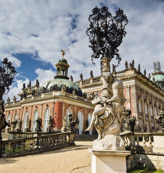 Neues Palais in Potsdam, Germany.